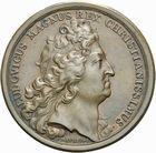 Photo numismatique  ARCHIVES VENTE 2011 -Coll Amateur Bourguignon 2 MEDAILLES MEDAILLES CONCERNANT BOURGOGNE ET FRANCHE-COMTE Mariage du duc de Bourgogne, 1697 179- Mariage du duc de Bourgogne avec Marie-Adélaïde de Savoie, 1697.