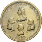 Photo numismatique  ARCHIVES VENTE 2011 -Coll Amateur Bourguignon 2 MÉDAILLES MEDAILLES CONCERNANT BOURGOGNE ET FRANCHE-COMTE La famille royale, 1693 178- Médaille de la famille royale, 1693.