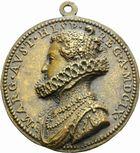 Photo numismatique  ARCHIVES VENTE 2011 -Coll Amateur Bourguignon 2 MEDAILLES MEDAILLES CONCERNANT BOURGOGNE ET FRANCHE-COMTE Marguerite d'Autriche, 1609 176- Marguerite d'Autriche, reine d'Espagne, 1609.