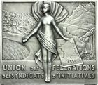 Photo numismatique  ARCHIVES VENTE 2011 -Coll Amateur Bourguignon 2 MEDAILLES MEDAILLES COLONIALES Algérie 172- Union des Fédérations des Syndicats d'Initiatives (ESSI).