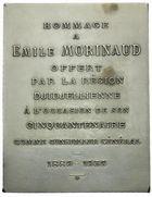 Photo numismatique  ARCHIVES VENTE 2011 -Coll Amateur Bourguignon 2 MEDAILLES MEDAILLES COLONIALES Alg�rie 170- MORINAUD, cinquantenaire au Conseil G�n�ral de la r�gion de Djidjelli, 1889-1939.