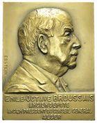 Photo numismatique  ARCHIVES VENTE 2011 -Coll Amateur Bourguignon 2 MÉDAILLES MEDAILLES COLONIALES Algérie 169- BROUSSAIS,cinquantenaire au  Conseil Général d'Alger, 1886-1936.
