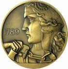 Photo numismatique  ARCHIVES VENTE 2011 -Coll Amateur Bourguignon 2 MÉDAILLES MEDAILLES HISTORIQUES FRANCAISES 3e République (1871-1940) 167- 150ème anniversaire de la Révolution Française, 1939.