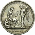 Photo numismatique  ARCHIVES VENTE 2011 -Coll Amateur Bourguignon 2 MEDAILLES MEDAILLES HISTORIQUES Consulat (1799-1804) 166- Constitution à Lyon de la République Italienne, (1802).