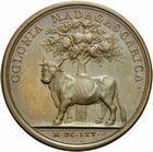 Photo numismatique  ARCHIVES VENTE 2011 -Coll Amateur Bourguignon 2 MÉDAILLES MEDAILLES COLONIALES Madagascar 165- La Colonie de Madagascar, 1665.