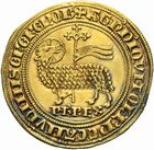 Photo numismatique  ARCHIVES VENTE 2011 -Coll Amateur Bourguignon 2 ROYALES FRANCAISES PHILIPPE IV LE BEL (5 octobre 1285-30 novembre 1314)  106- Agnel d'or (26 janvier 1311).