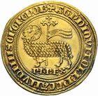 Photo numismatique  ARCHIVES VENTE 2011 -Coll Amateur Bourguignon 2 ROYALES FRANCAISES PHILIPPE IV LE BEL (5 octobre 1285-30 novembre 1314)  106- Agnel d'or (26 janvier 1311).