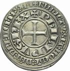 Photo numismatique  ARCHIVES VENTE 2011 -Coll Amateur Bourguignon 2 ROYALES FRANCAISES PHILIPPE III LE HARDI (25 août 1270-5 octobre 1285)  101- Gros tournois (avant 1280).