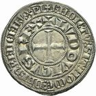 Photo numismatique  ARCHIVES VENTE 2011 -Coll Amateur Bourguignon 2 ROYALES FRANCAISES LOUIS IX, Saint Louis (3 novembre 1226-24 août 1270)  99- Gros tournois à l'étoile (1266-1270).