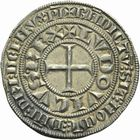 Photo numismatique  ARCHIVES VENTE 2011 -Coll Amateur Bourguignon 2 ROYALES FRANCAISES LOUIS IX, Saint Louis (3 novembre 1226-24 août 1270)  97- Gros tournois (1266-1270).
