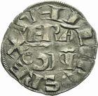 Photo numismatique  ARCHIVES VENTE 2011 -Coll Amateur Bourguignon 2 ROYALES FRANCAISES PHILIPPE II AUGUSTE (1180-1223)  96- Denier parisis frappé à Saint-Omer.