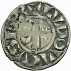 Photo numismatique  ARCHIVES VENTE 2011 -Coll Amateur Bourguignon 2 ROYALES FRANCAISES LOUIS VII (1er août 1137-18 septembre 1180)  94- Denier frappé à Langres à l'époque de Louis VII, immobilisation au nom du roi Louis.