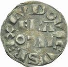 Photo numismatique  ARCHIVES VENTE 2011 -Coll Amateur Bourguignon 2 ROYALES FRANCAISES LOUIS VII (1er août 1137-18 septembre 1180)  92- Denier du 3ème type, frappé à Paris.