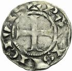 Photo numismatique  ARCHIVES VENTE 2011 -Coll Amateur Bourguignon 2 ROYALES FRANCAISES LOUIS VII (1er août 1137-18 septembre 1180)  91- Denier du 2ème type, frappé à Paris.