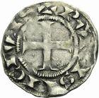 Photo numismatique  ARCHIVES VENTE 2011 -Coll Amateur Bourguignon 2 ROYALES FRANCAISES LOUIS VII (1er août 1137-18 septembre 1180)  91- Denier du 2ème type, frappé à Paris.