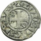 Photo numismatique  ARCHIVES VENTE 2011 -Coll Amateur Bourguignon 2 ROYALES FRANCAISES LOUIS VII (1er août 1137-18 septembre 1180)  90- Denier du 1er type, frappé à Mantes.