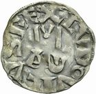 Photo numismatique  ARCHIVES VENTE 2011 -Coll Amateur Bourguignon 2 ROYALES FRANCAISES LOUIS VI (29 juillet 1108-1er août 1137)  86- Denier du 4ème type, frappé à Pontoise.