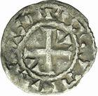Photo numismatique  ARCHIVES VENTE 2011 -Coll Amateur Bourguignon 2 ROYALES FRANCAISES LOUIS VI (29 juillet 1108-1er août 1137)  84- Denier du 6ème type, frappé à Etampes.