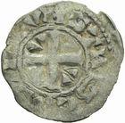 Photo numismatique  ARCHIVES VENTE 2011 -Coll Amateur Bourguignon 2 ROYALES FRANCAISES LOUIS VI (29 juillet 1108-1er août 1137)  83- Denier du 5ème type, frappé à Etampes.