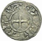 Photo numismatique  ARCHIVES VENTE 2011 -Coll Amateur Bourguignon 2 ROYALES FRANCAISES PHILIPPE Ier (4 août 1060-29 juillet 1108)  81- Denier du 6ème type, frappé à Paris.