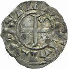 Photo numismatique  ARCHIVES VENTE 2011 -Coll Amateur Bourguignon 2 ROYALES FRANCAISES PHILIPPE Ier (4 août 1060-29 juillet 1108)  80- Denier du 5ème type, frappé à Paris.