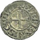 Photo numismatique  ARCHIVES VENTE 2011 -Coll Amateur Bourguignon 2 ROYALES FRANCAISES PHILIPPE Ier (4 août 1060-29 juillet 1108)  79- Denier du 5ème type, frappé à Orléans.