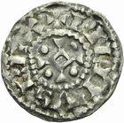 Photo numismatique  ARCHIVES VENTE 2011 -Coll Amateur Bourguignon 2 ROYALES FRANCAISES PHILIPPE Ier (4 août 1060-29 juillet 1108)  75- Denier du 3ème type, frappé à Mâcon.
