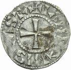 Photo numismatique  ARCHIVES VENTE 2011 -Coll Amateur Bourguignon 2 ROYALES FRANCAISES PHILIPPE Ier (4 août 1060-29 juillet 1108)  67- Denier du 3ème type, frappé à Château-Landon.