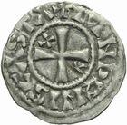 Photo numismatique  ARCHIVES VENTE 2011 -Coll Amateur Bourguignon 2 ROYALES FRANCAISES PHILIPPE Ier (4 août 1060-29 juillet 1108)  66- Obole du 1er type, frappée à Château-Landon.