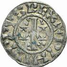 Photo numismatique  ARCHIVES VENTE 2011 -Coll Amateur Bourguignon 2 ROYALES FRANCAISES PHILIPPE Ier (4 août 1060-29 juillet 1108)  65- Denier du 1er type, frappé à Château-Landon.