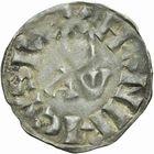 Photo numismatique  ARCHIVES VENTE 2011 -Coll Amateur Bourguignon 2 ROYALES FRANCAISES HENRI I (1031-1060)  63- Denier du 1er type, frappé à Paris.