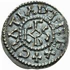 Photo numismatique  ARCHIVES VENTE 2011 -Coll Amateur Bourguignon 2 CAROLINGIENS CHARLES LE CHAUVE, roi (840-875) - empereur (jour de Noël 875-6 octobre 877) Type GDR (après 864) 50- Denier au type GDR, frappé à Rouen après 864.