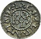 Photo numismatique  ARCHIVES VENTE 2011 -Coll Amateur Bourguignon 2 CAROLINGIENS CHARLES LE CHAUVE, roi (840-875) - empereur (jour de Noël 875-6 octobre 877) Type GDR (après 864) 48- Denier au type GDR, frappé à Arras après 864.