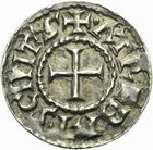 Photo numismatique  ARCHIVES VENTE 2011 -Coll Amateur Bourguignon 2 CAROLINGIENS CHARLES LE CHAUVE, roi (840-875) - empereur (jour de Noël 875-6 octobre 877) Type GDR (après 864) 48- Denier au type GDR, frappé à Arras après 864.
