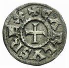 Photo numismatique  ARCHIVES VENTE 2011 -Coll Amateur Bourguignon 2 CAROLINGIENS CHARLES LE CHAUVE, roi (840-875) - empereur (jour de Noël 875-6 octobre 877) Type bilinéaire (840-864) 43- Obole frappée à Paris avant 864.