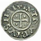 Photo numismatique  ARCHIVES VENTE 2011 -Coll Amateur Bourguignon 2 CAROLINGIENS LOTHAIRE Ier, empereur (817-855)  40- Denier au temple.
