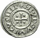 Photo numismatique  ARCHIVES VENTE 2011 -Coll Amateur Bourguignon 2 CAROLINGIENS LOUIS LE PIEUX, empereur (janvier 814-20 juin 840)  39- Denier au temple frappé à partir de 822.