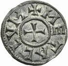 Photo numismatique  ARCHIVES VENTE 2011 -Coll Amateur Bourguignon 2 CAROLINGIENS LOUIS LE PIEUX, empereur (janvier 814-20 juin 840)  38- Denier frappé à Melle à partir de 818.