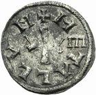 Photo numismatique  ARCHIVES VENTE 2011 -Coll Amateur Bourguignon 2 CAROLINGIENS LOUIS LE PIEUX, empereur (janvier 814-20 juin 840)  37- Denier au buste frappé à Melle entre 814 et 819.