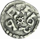 Photo numismatique  ARCHIVES VENTE 2011 -Coll Amateur Bourguignon 2 CAROLINGIENS CHARLEMAGNE, roi (768-800) empereur (800-814)  36- Denier du 1er type frappé à Melle, avant 794.
