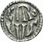 Photo numismatique  ARCHIVES VENTE 2011 -Coll Amateur Bourguignon 2 CAROLINGIENS CHARLEMAGNE, roi (768-800) empereur (800-814)  35- Denier du 1er type, frappé à l'Ecluse (Belgique), avant 794.