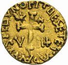 Photo numismatique  ARCHIVES VENTE 2011 -Coll Amateur Bourguignon 2 PEUPLES BARBARES MEROVINGIENS CITES AUTUN (Saône-et-Loire) 30- Triens au nom du monétaire Flavatus, vers 570/585.