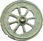 Photo numismatique  ARCHIVES VENTE 2011 -Coll Amateur Bourguignon 2 IBERIE- GAULE - CELTES ROUELLE (Age du bronze) 28- Rouelle à huit rayons.