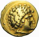 Photo numismatique  ARCHIVES VENTE 2011 -Coll Amateur Bourguignon 2 IBERIE- GAULE - CELTES ARMORIQUE (3ème siècle avant J.C.)  12- Statère d'or.