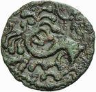 Photo numismatique  ARCHIVES VENTE 2011 -Coll Amateur Bourguignon 2 GAULE - CELTES BELLOVACI-AMBIANI (su-ouest Somme et vallée de l'Oise)  3- Bronze au lion de la classe 1.