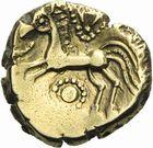 Photo numismatique  ARCHIVES VENTE 2011 -Coll Amateur Bourguignon 2 IBERIE- GAULE - CELTES REMI (région de Marne et Ardennes)  2- Statère d'or à l'œil.