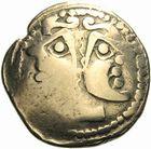 Photo numismatique  ARCHIVES VENTE 2011 -Coll Amateur Bourguignon 2 IBERIE- GAULE - CELTES MEDIOMATRICI (région de Metz)  1- Statère d'or.