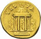 Photo numismatique  ARCHIVES VENTE 2011 -Coll Amateur Bourguignon 2 EMPIRE ROMAIN VESPASIEN (69-79)  1d- Aureus frappé à Rome en 73.