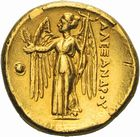 Photo numismatique  ARCHIVES VENTE 2011 -Coll Amateur Bourguignon 2 GRECE ANTIQUE MACEDOINE Rois de Macédoine, Alexandre III le Gd (336-323) 1c- Statère d'or frappé en Macédoine.