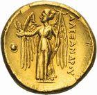 Photo numismatique  ARCHIVES VENTE 2011 -Coll Amateur Bourguignon 2 GRÈCE ANTIQUE MACEDOINE Rois de MACÉDOINE. ALEXANDRE III le Gd (336-323) 1c- Statère d'or frappé en Macédoine.